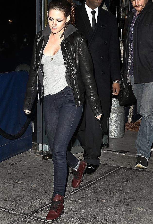 Kristen Stewart Leather Jacket Casual