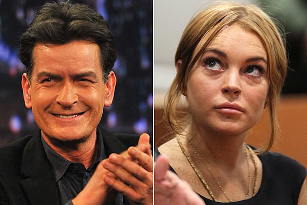 Charlie Sheen Lindsay Lohan