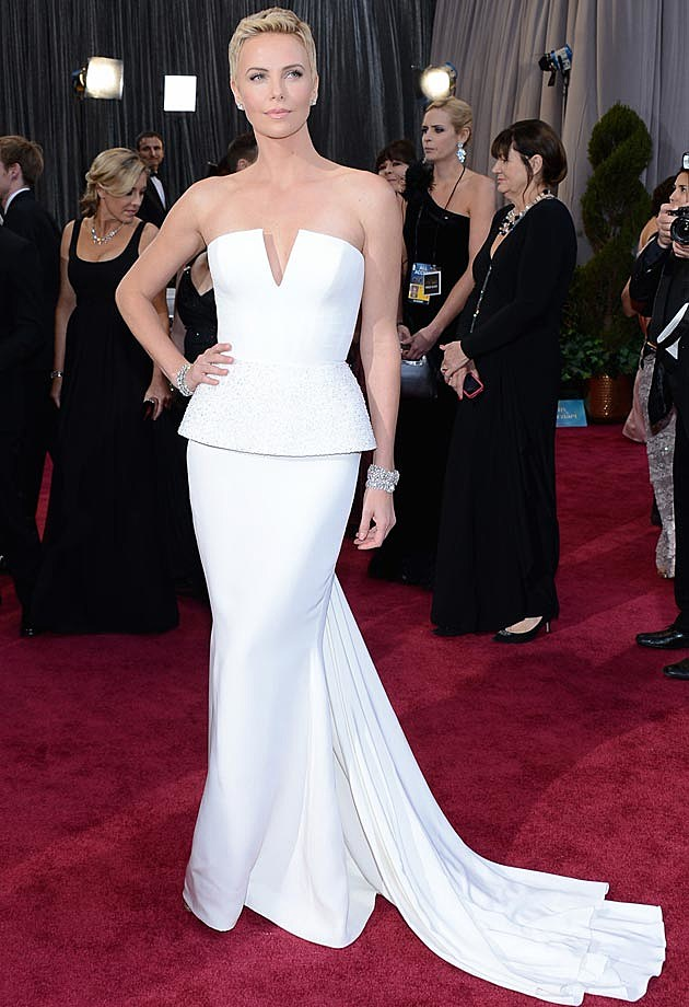 Charlize Theron Dior Couture 2013 Oscars
