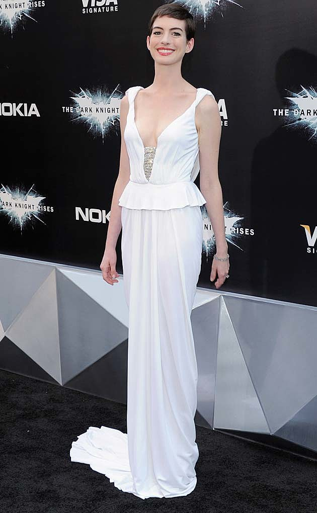 Anne Hathaway Dark Knight Prabal Gurung