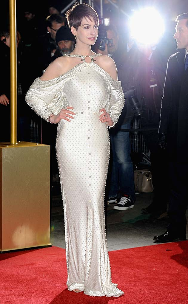 Anne Hathaway White Givenchy