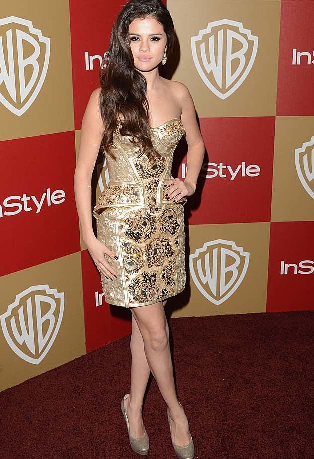 Selena Gomez Golden Globes Atelier Versace