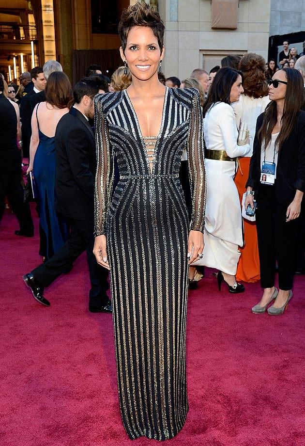 Halle Berry Versace Oscars 2013