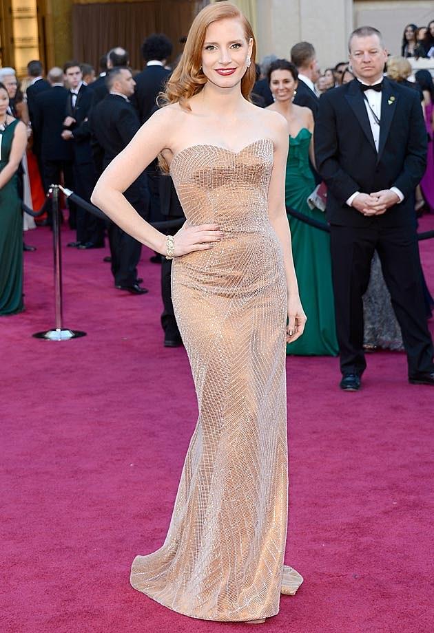 Jessica Chastain Armani Prive Oscars 2013