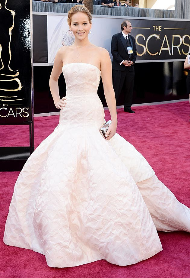Jennifer Lawrence Dior Oscars 2013