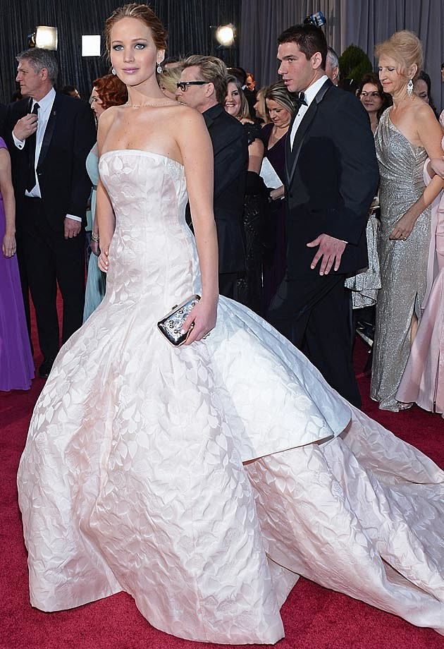 Jennifer Lawrence Dior Haute Couture 2013 Oscars