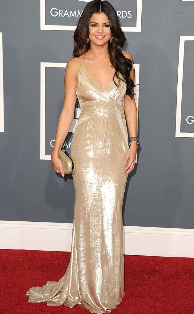 Selena Gomez Gold J. Mendel Grammys