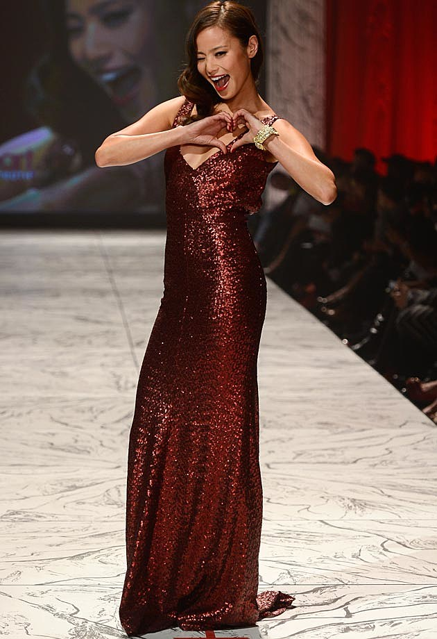 Jamie Chung Heart Truth Fashion Show