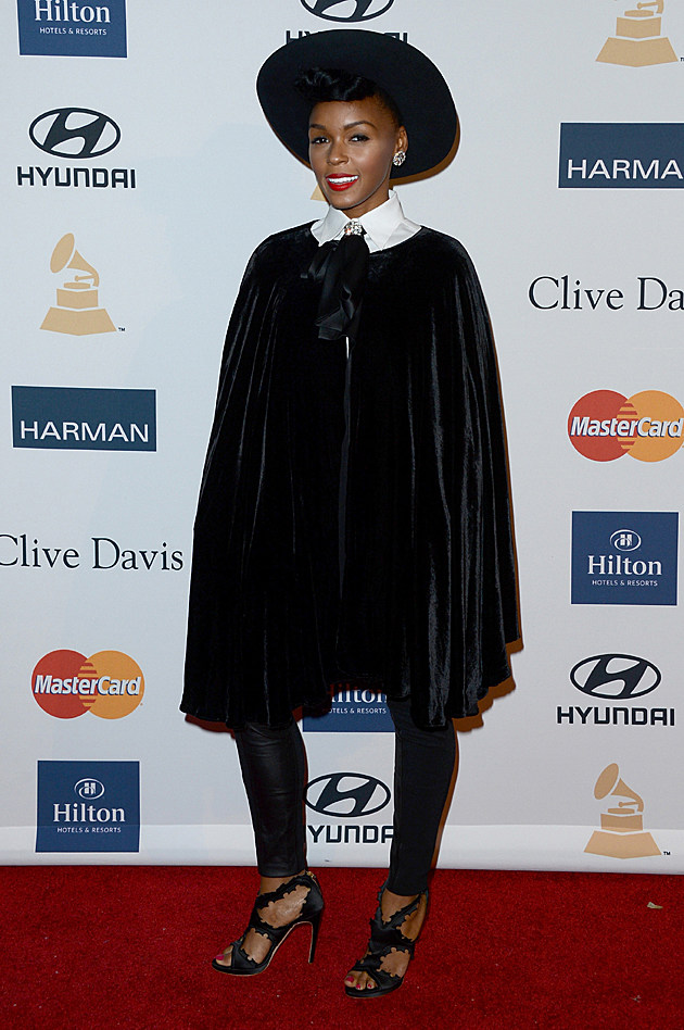 Janelle Monae at the Clive Davis Pre-GRAMMY Party
