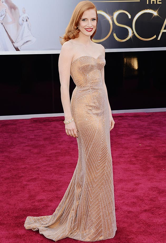 Jessica Chastain 2013 Oscars Armani Prive