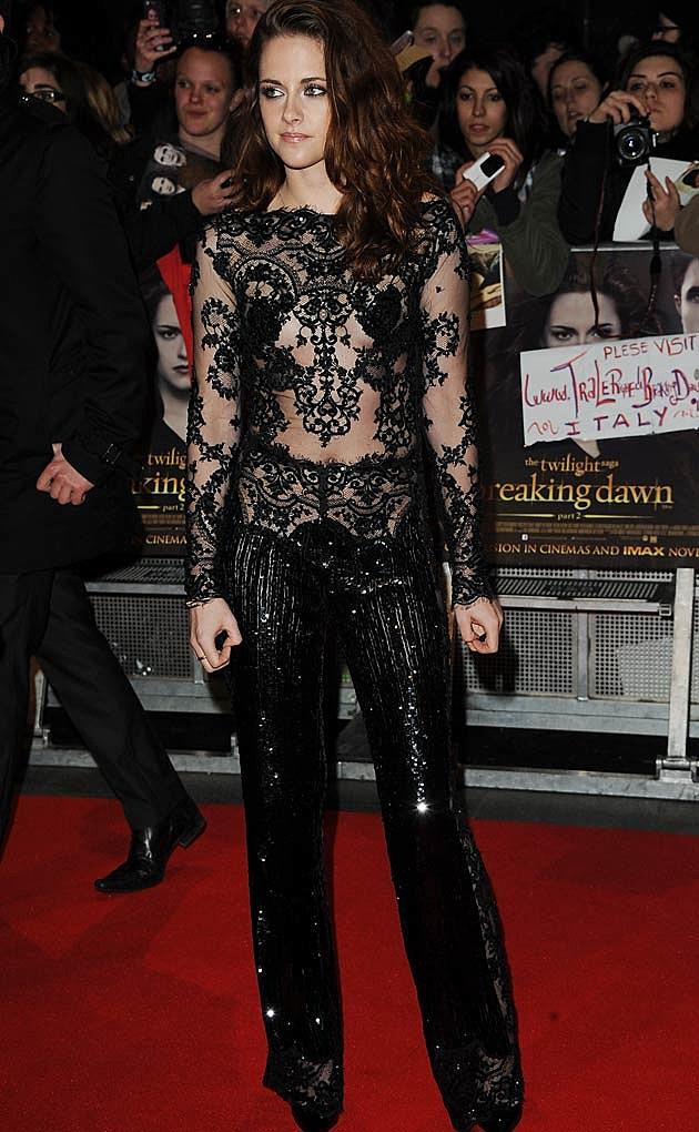 Kristen Stewart Lace Jumpsuit Zuhair Murad