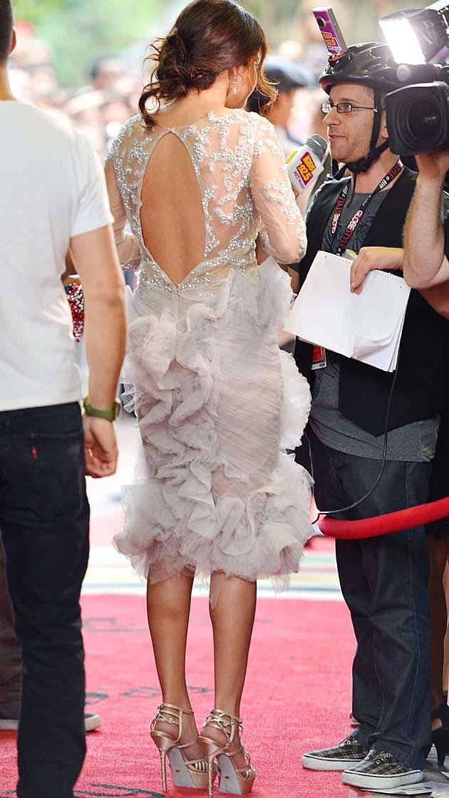 Selena Gomez Marchesa Gray