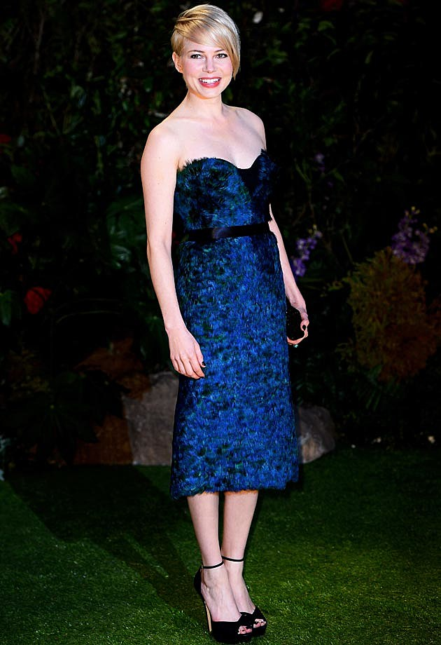 Michelle Williams Peacock Burberry Prorsum Oz Great Powerful