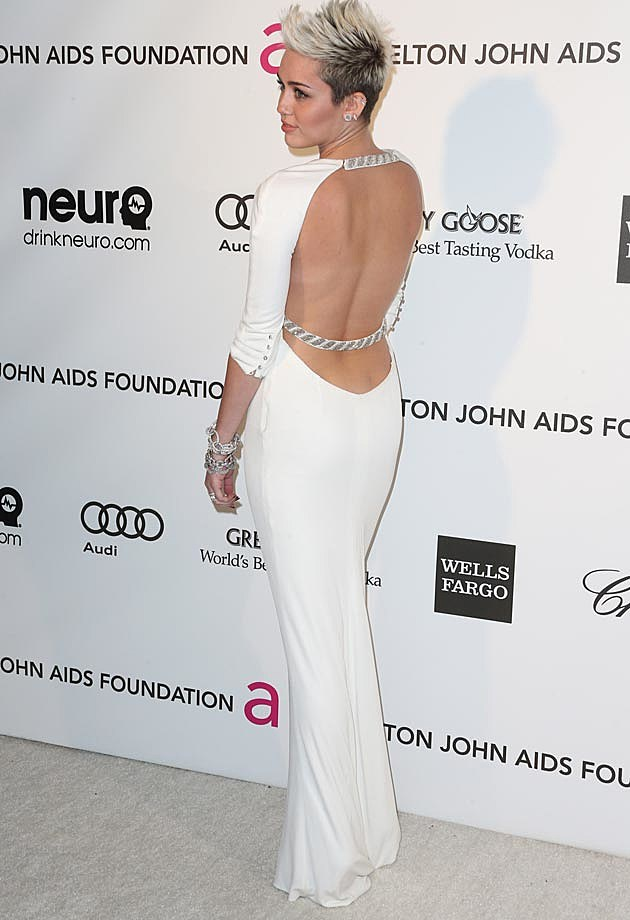 Miley Cyrus Azzaro Elton John Oscar Party