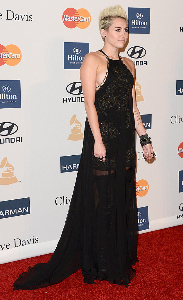 Miley Cyrus at the Clive Davis Pre-GRAMMY Party