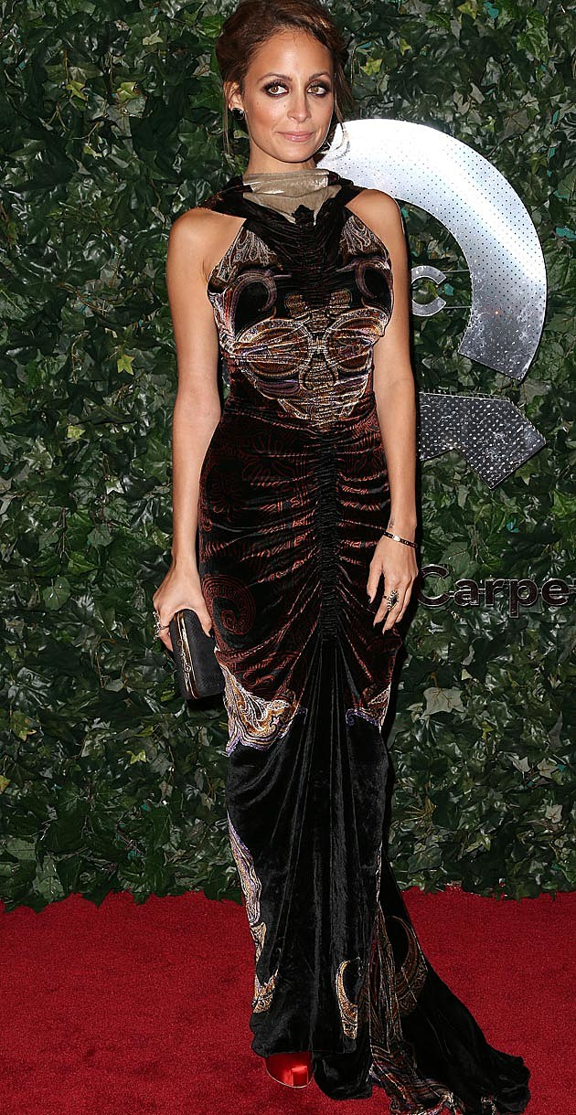 Nicole Richie Etro Oscar Vanity Fair Party 2013