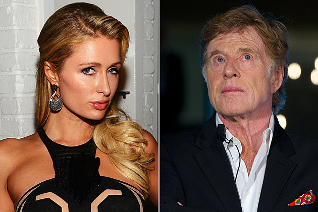Paris Hilton Robert Redford