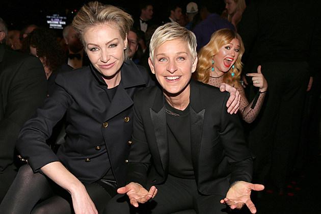 Portia DeRossi Ellen DeGeneres Kelly Clarkson