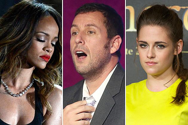 Razzies Rihanna Adam Sandler Kristen Stewart
