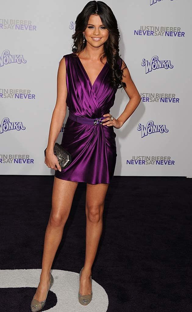 Selena Gomez Reem Acra Justin Bieber Premiere