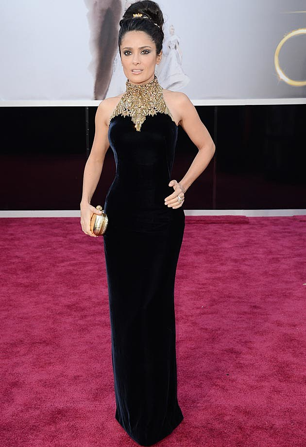 Salma Hayek Alexander McQueen 2013 Oscars