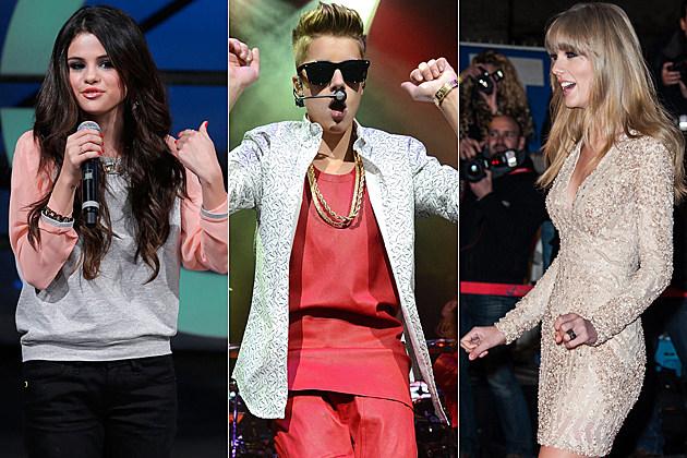 Selena Gomez Justin Bieber Taylor Swift
