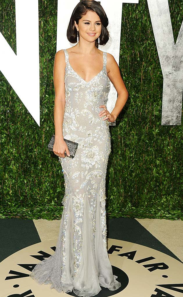 Selena Gomez Silver Dolce Gabbanna Oscars