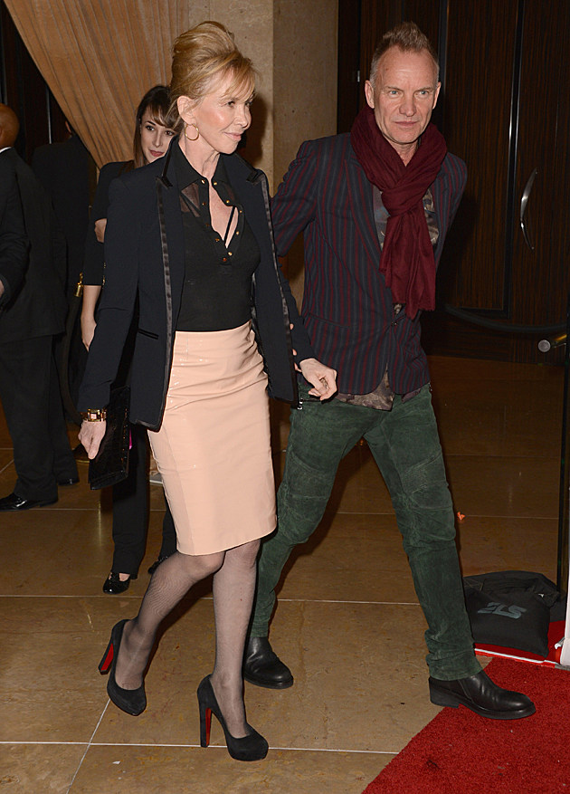 Sting and Trudie Styler at the Clive Davis Pre-GRAMMY Party