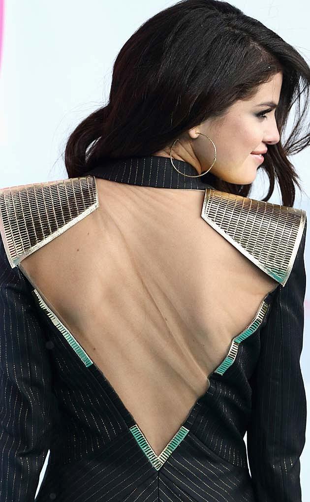 Selena Gomez Atelier Versace Suit Spring Breakers