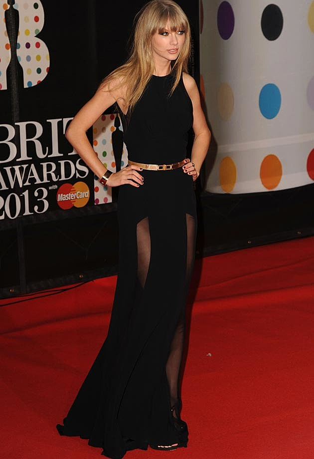 Taylor Swift BRITs 2013 Black Elie Saab