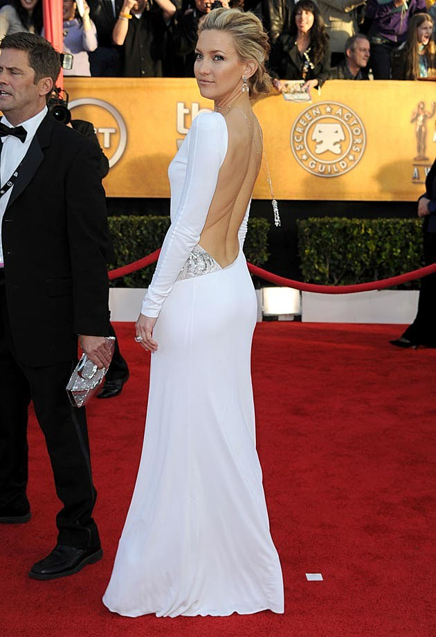 Kate Hudson White Backless Pucci