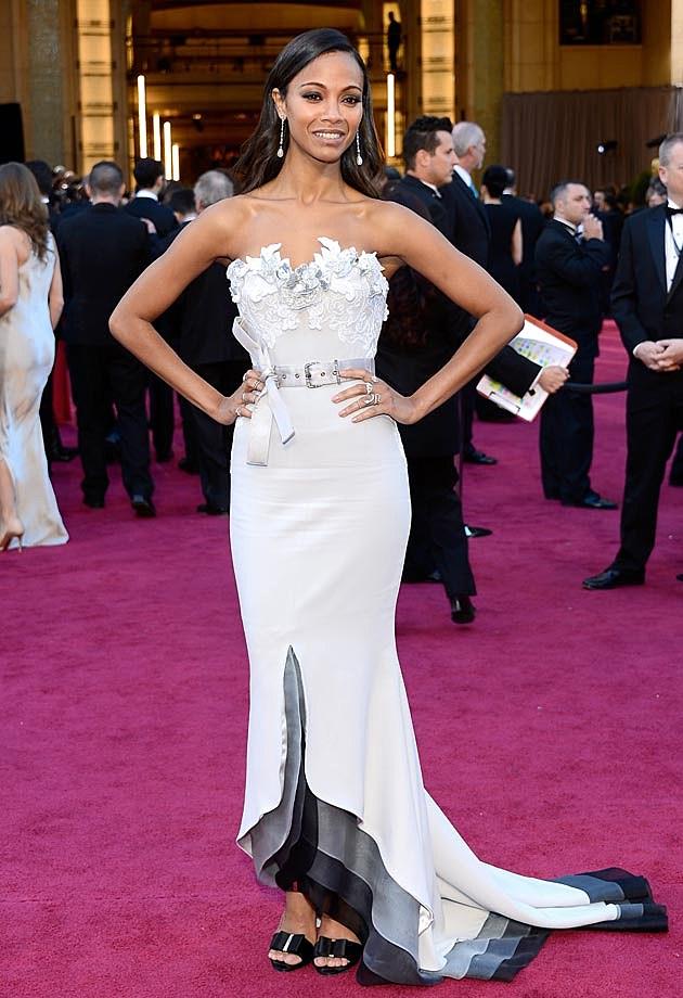 Zoe Saldans Alexis Mabille Couture 2013 Oscars