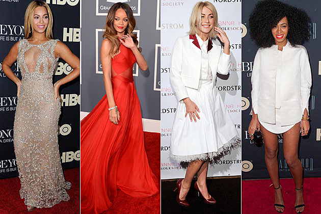 Beyonce, Rihanna, Julianne Hough, Solange