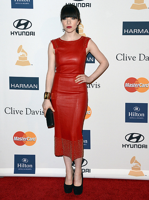 Carly Rae Jepsen at the Clive Davis Pre-GRAMMY Party