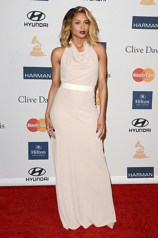 Ciara at the Clive Davis Pre-GRAMMY Party