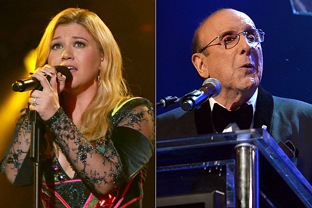 Kelly Clarkson and Clive Davis