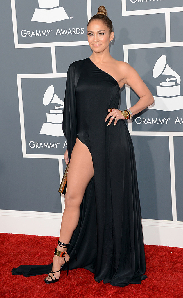 Jennifer Lopez at the 2013 Grammys