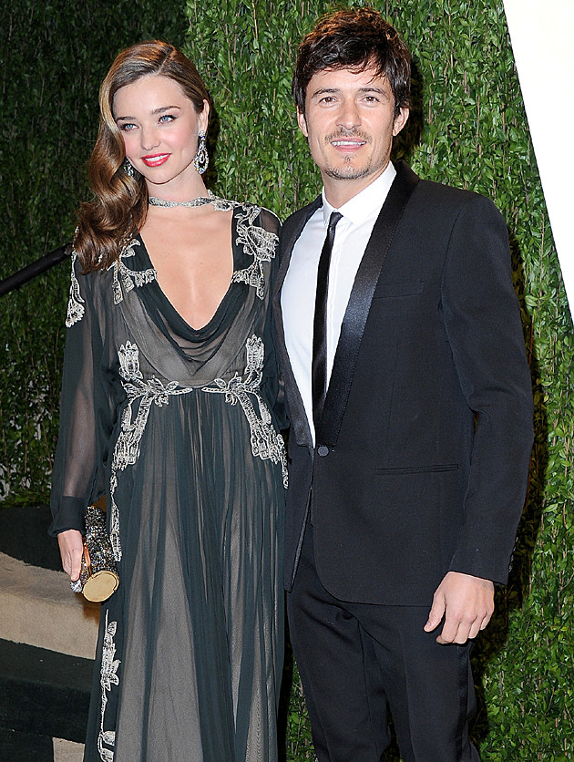 Miranda Kerr + Orlando Bloom at the 2013 Vanity Fair Oscar Party