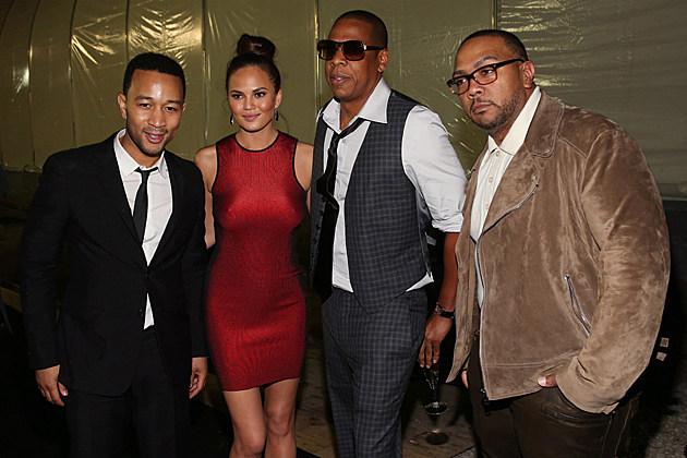 John Legend, Christy Teigen, Jay-Z, Timbaland