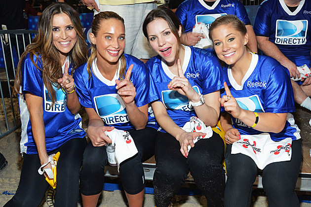 Jillian Barberie, Hannah Davis, Katharine McPhee, and Shawn Johnson