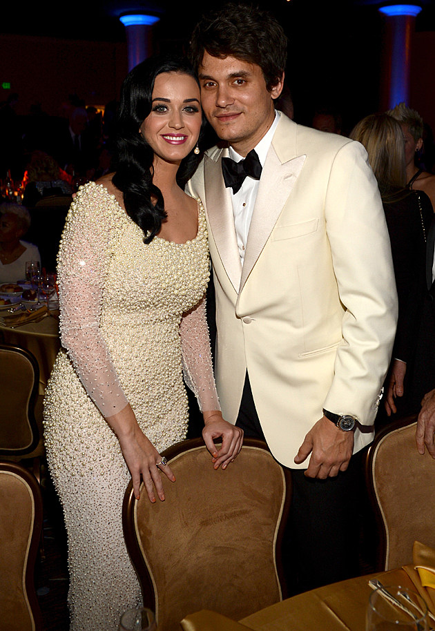 Katy Perry and John Mayer at the Pre-GRAMMY Gala and Salute to Industry Icons