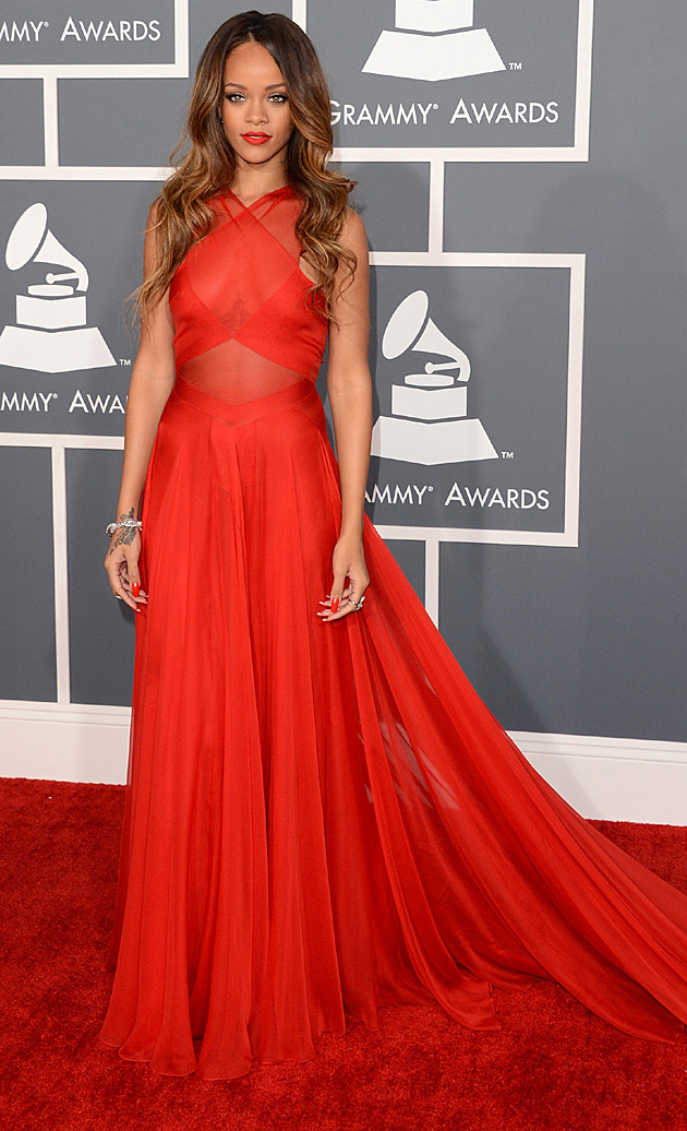 Rihanna at the 2013 Grammys
