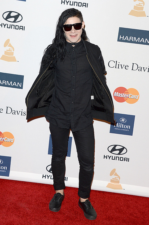 Skrillex at the Clive Davis Pre-GRAMMY Party