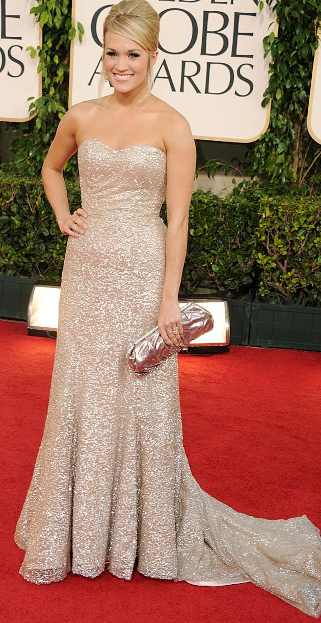 Carrie Underwood Badgley Mischka 2011 Golden Globes