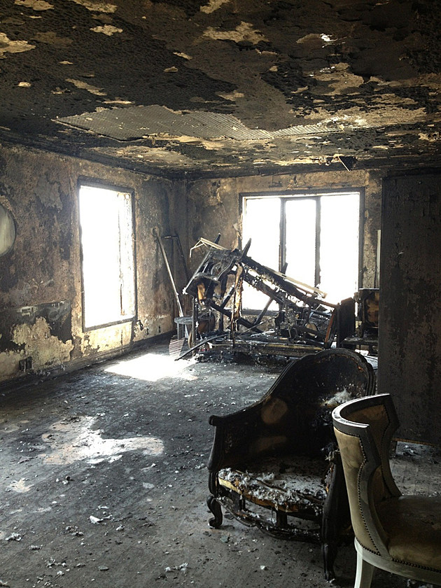 Interior Pictures of Ashley Greene's West Hollywood condo after it went up in flames Friday morning