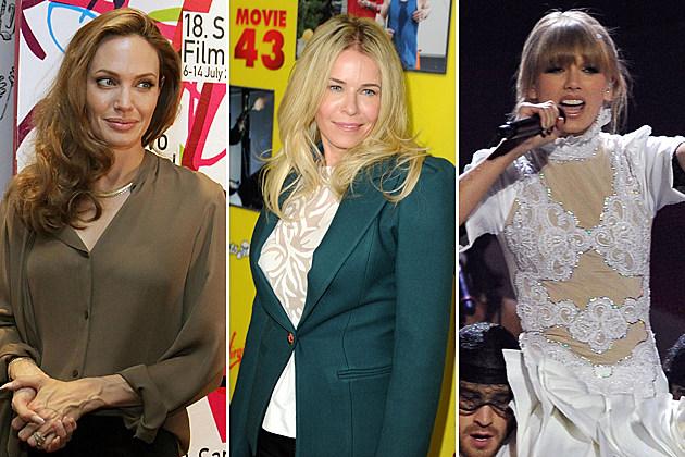 Angelina Jolie Chelsea Handler Taylor Swift