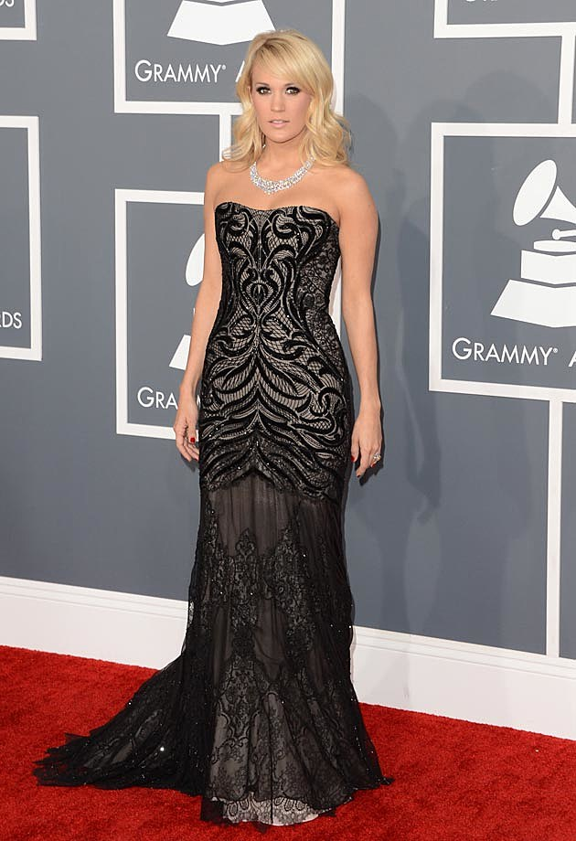 Carrie Underwood Roberto Cavalli Black Grammys 2013
