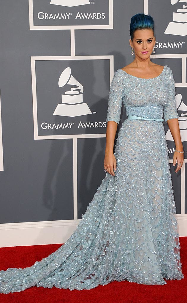 Katy Perry Grammys 2011 Elie Saab Blue