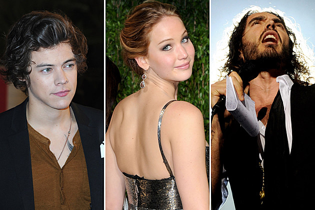 Harry Styles Jennifer Lawrence Russell Brand