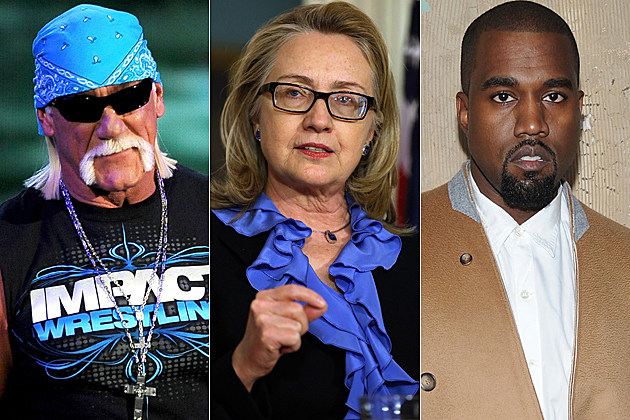 Hulk Hogan Hilary Clinton Kanye West